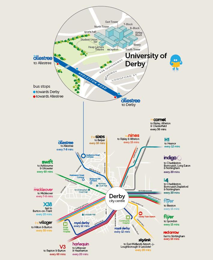 Map Of Uk Derby.University Of Derby Trentbarton