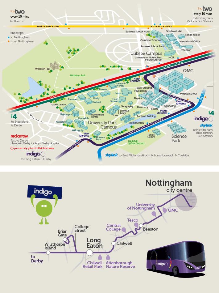 Map Of Uk Nottingham.University Of Nottingham Trentbarton