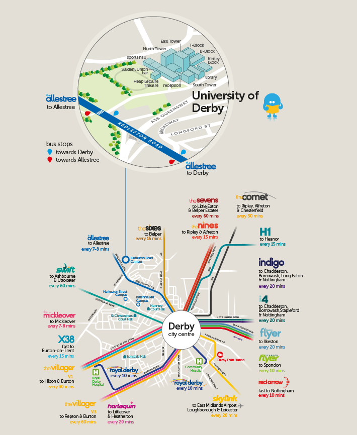 derby university campus map University Of Derby Trentbarton derby university campus map
