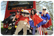 Superheroes take to the buses