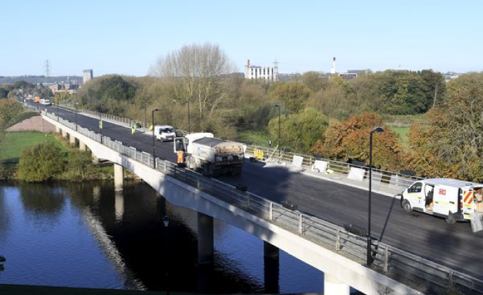 St Peter's Bridge has re-opened almost 3 weeks ahead of schedule