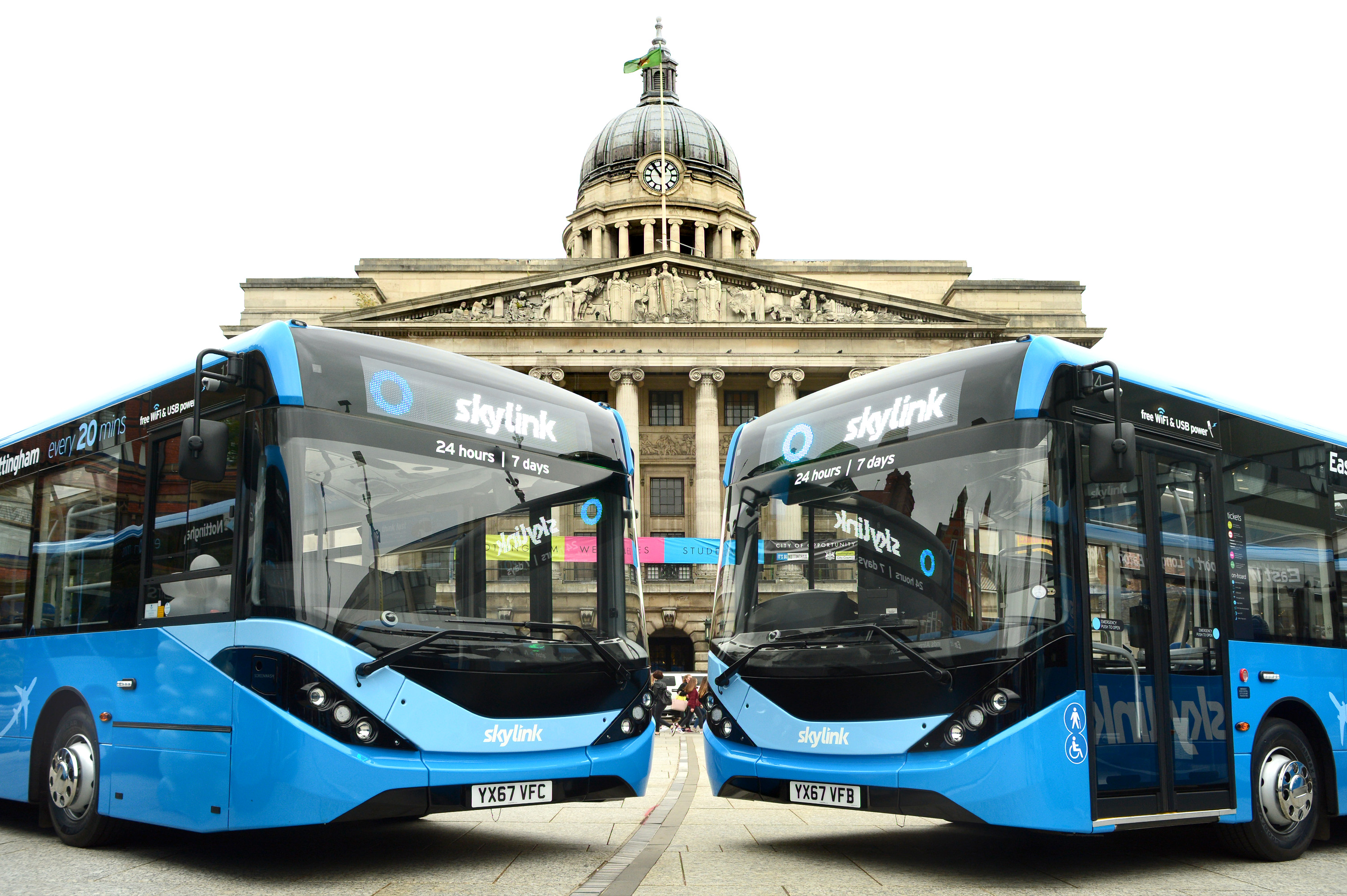 some of the new ADL Enviro200s that will help connect Nottingham, Beeston and Long Eaton to East Midlands Airport