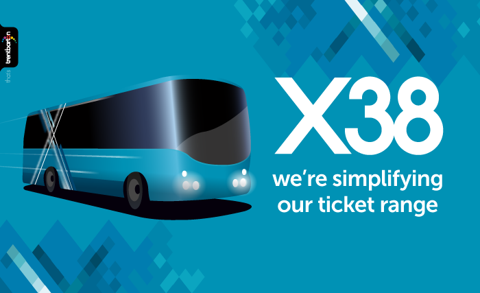 From Sunday 5 November X38 will introduce a simpler ticket range