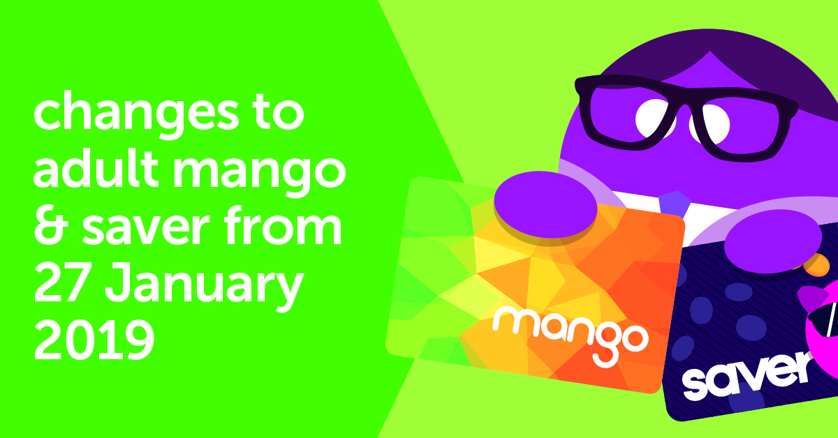 Changes To Adult Mango And Saver Trent Barton