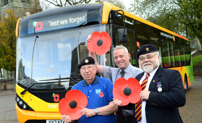 185 trentbarton buses will proudly be wearing a poppy.