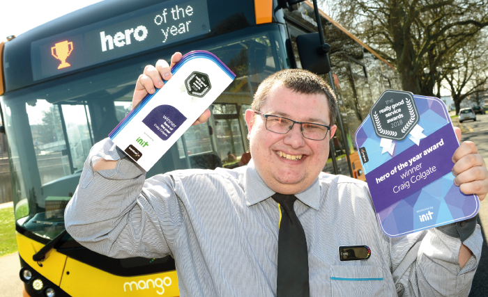Craig Colgate was all smiles after being crowned hero of the year 2018