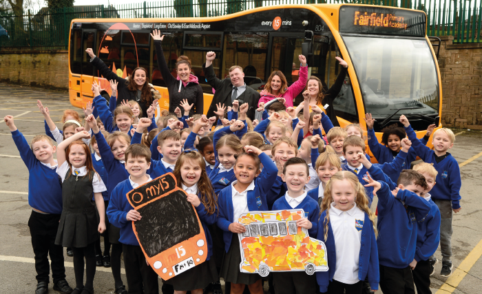 54 children from Year 1 were taken on a my15 bus for a ride to our Langley Mill depot.
