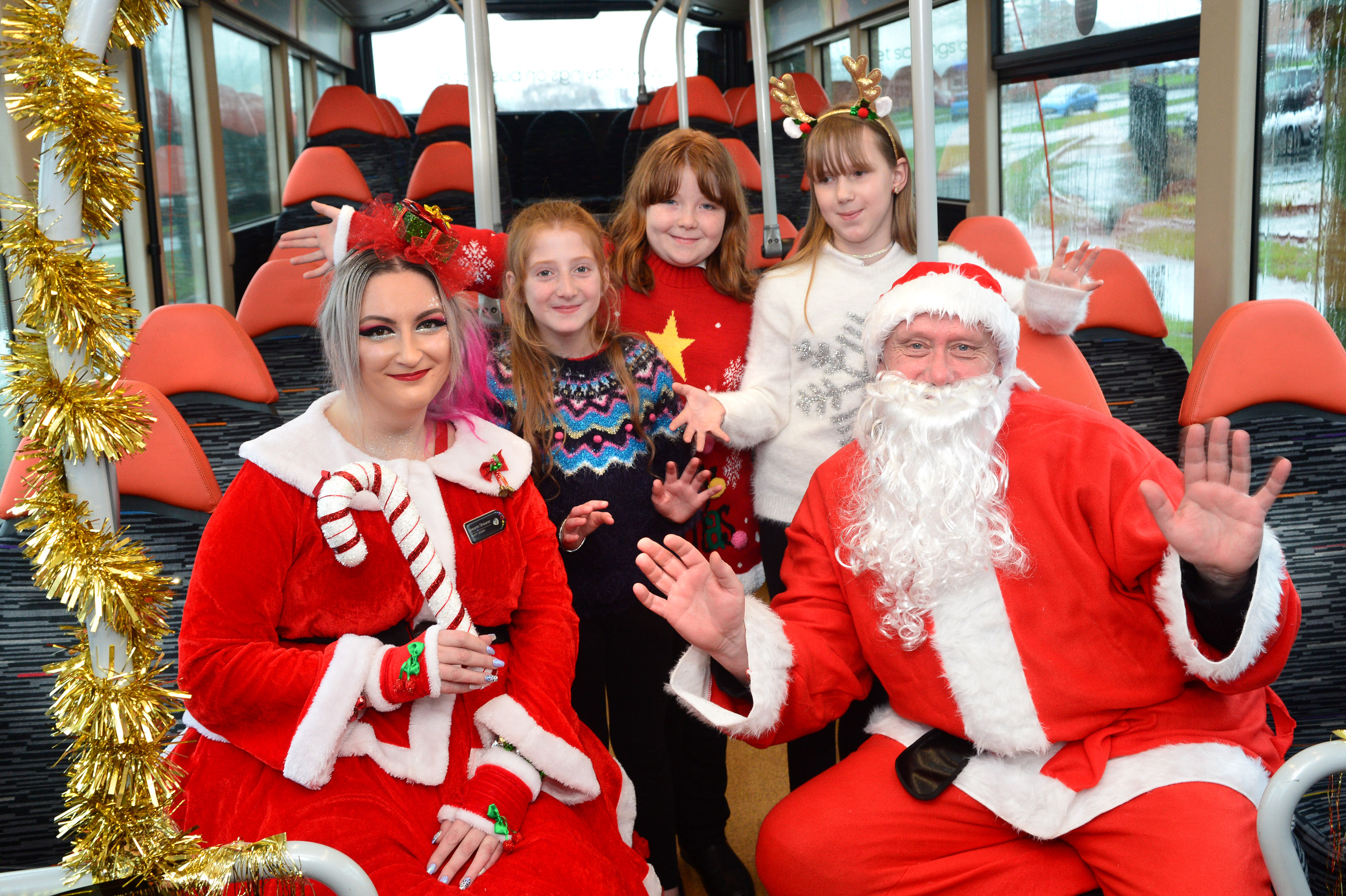 Christmas aboard for school choir